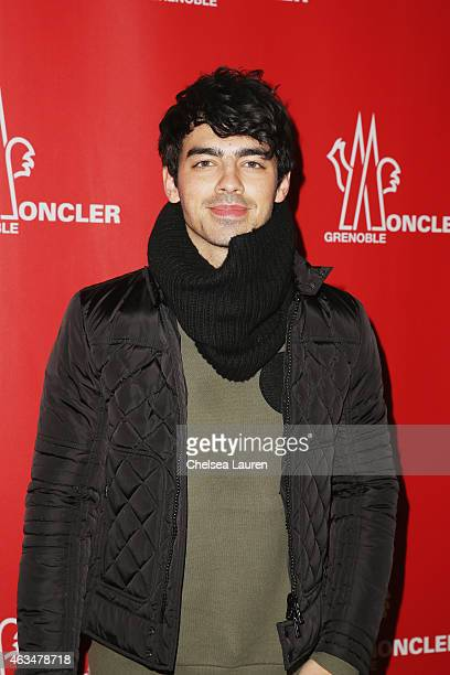 Joe Jonas attends the Moncler Grenoble Fall/Winter 2015 fashion show during New York Fashion Week Fall 2015 at the Duggal Greenhouse on February 14,...