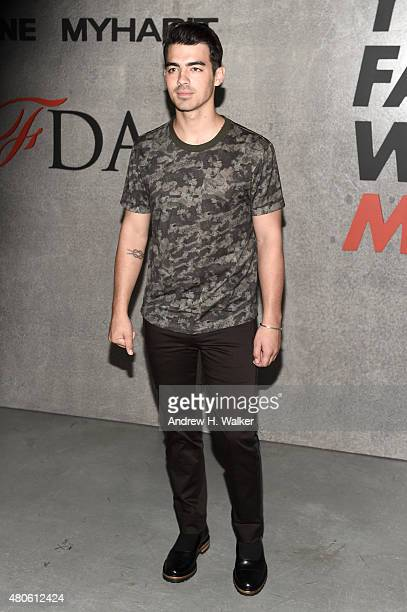 Joe Jonas attends the opening event for New York Fashion Week Men's S/S 2016 at Amazon Imaging Studio on July 13 2015 in Brooklyn New York