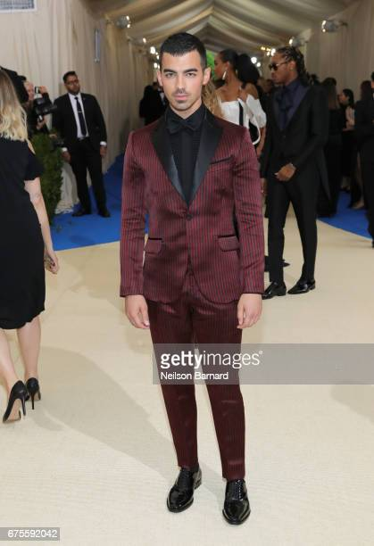 Joe Jonas attends the 'Rei Kawakubo/Comme des Garcons Art Of The InBetween' Costume Institute Gala at Metropolitan Museum of Art on May 1 2017 in New...