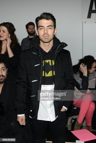 Joe Jonas attends the The Blonds Show during MADE Fashion Week Fall 2014 at Milk Studios on February 12 2014 in New York City