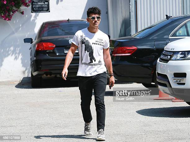 Joe Jonas is seen on August 31 2015 in Los Angeles California