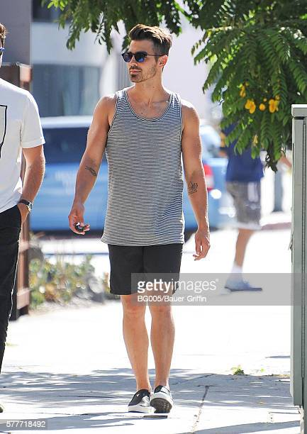 Joe Jonas is seen on July 19 2016 in Los Angeles California