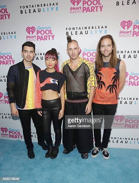 DNCE Joe Jonas Jack Lawless Cole Whittle and JinJoo Lee IHeartRadio Summer Pool Party 2016>> at Fontainebleau Miami Beach on May 21 2016 in Miami...
