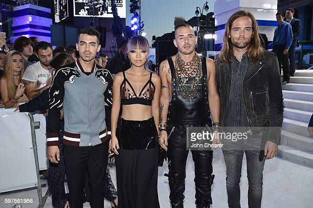 Joe Jonas JinJoo Lee Cole Whittle and Jack Lawless of DNCE attend the 2016 MTV Video Music Awards on August 28 2016 in New York City