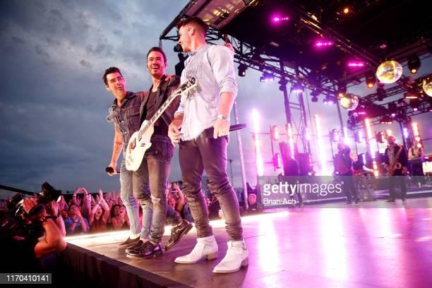 Joe Jonas Kevin Jonas and Nick Jonas of The Jonas Brothers perform at The Stone Pony in Asbury Park NJ as part of the 2019 MTV VMAs on August 25 2019...