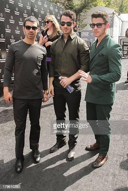 Joe Jonas Kevin Jonas and Nick Jonas seen around Lincoln Center during Spring 2014 MercedesBenz Fashion Week on September 5 2013 in New York City