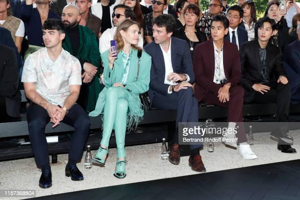 Joe Jonas Natalia Vodianova General manager of Berluti Antoine Arnault Eddie Peng and Lee Min Ho attend the Berluti Menswear Spring Summer 2020 show...