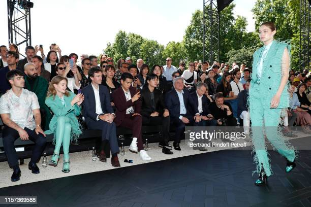 Joe Jonas Natalia Vodianova General manager of Berluti Antoine Arnault Eddie Peng Lee Min Ho and Chief Executive Officer of LVMH Fashion Group Sidney...