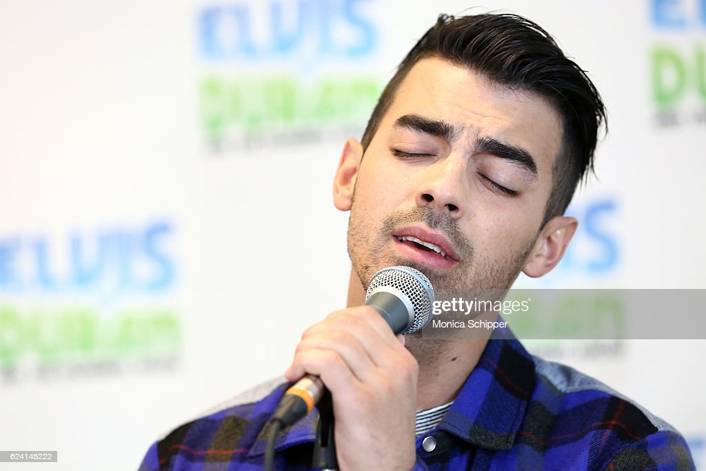Joe Jonas of band DNCE performs when DNCE visit 'The Elvis Duran Z100 Morning Show' at Z100 Studio on November 18, 2016 in New York City.