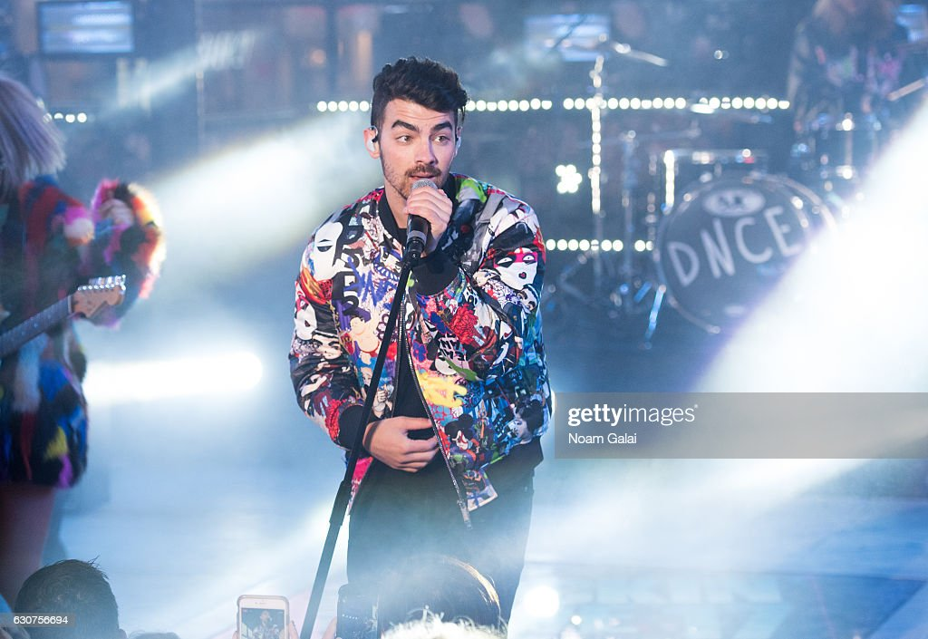Joe Jonas of DNCE performs during New Year's Eve 2017 in Times Square on December 31, 2016 in New York City.