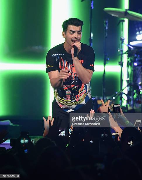 Joe Jonas of DNCE performs in concert at Barclays Center on June 1 2016 in New York City