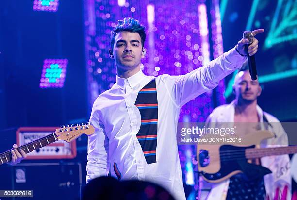 Joe Jonas of DNCE performs onstage at Dick Clark's New Year's Rockin' Eve with Ryan Seacrest 2016 on December 31 2015 in Los Angeles CA