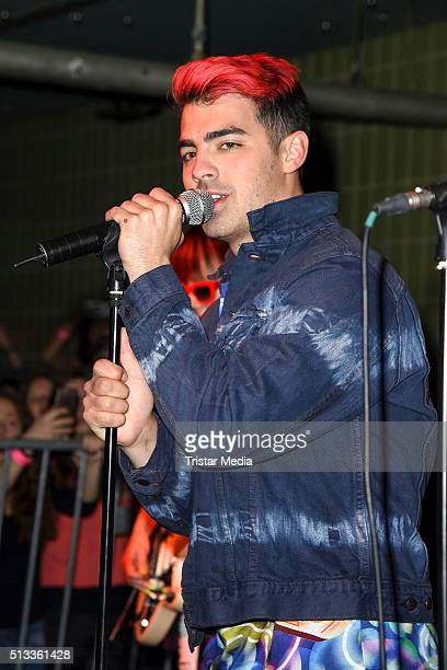 Joe Jonas of the band DNCE performs on stage at Prince Charles on March 2 2016 in Berlin Germany