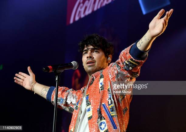 Joe Jonas of the Jonas Brothers performs onstage at the March Madness Music Series featuring Jonas Brothers presented by CocaCola during the NCAA...