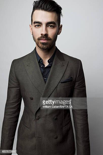 Joe Jonas poses for a portraits at the BAFTA Tea Party at Four Seasons Hotel Los Angeles at Beverly Hills on January 7 2017 in Los Angeles California