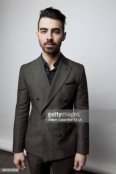 Joe Jonas poses for a portraits at the BAFTA Tea Party at Four Seasons Hotel Los Angeles at Beverly Hills on January 7, 2017 in Los Angeles,...