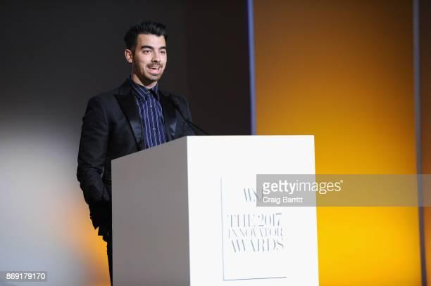 Joe Jonas speaks onstage during the WSJ Magazine 2017 Innovator Awards at MOMA on November 1 2017 in New York City