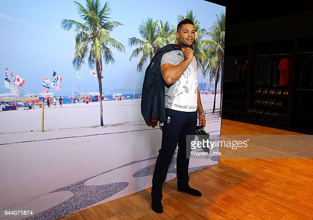 Joe Joyce a member of the Great Britain Olympic team is pictured during the Team GB Kitting Out ahead of Rio 2016 Olympic Games on July 1 2016 in...