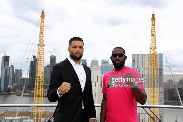 Joe Joyce and Bryant Jennings go ahead to head on the O2 during a press conference on June 05 2019 in London England