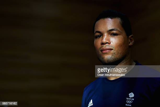 Joe Joyce of Great Britain or Team GB from the Mens Boxing Team poses during the Olympics preview day 2 at The British School on August 3 2016 in Rio...