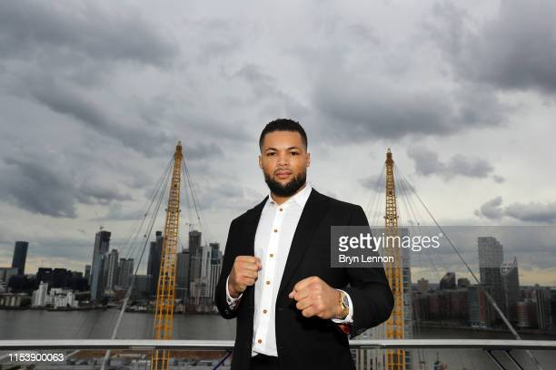 Joe Joyce poses for a photo on top of the O2 during a press conference on June 05 2019 in London England