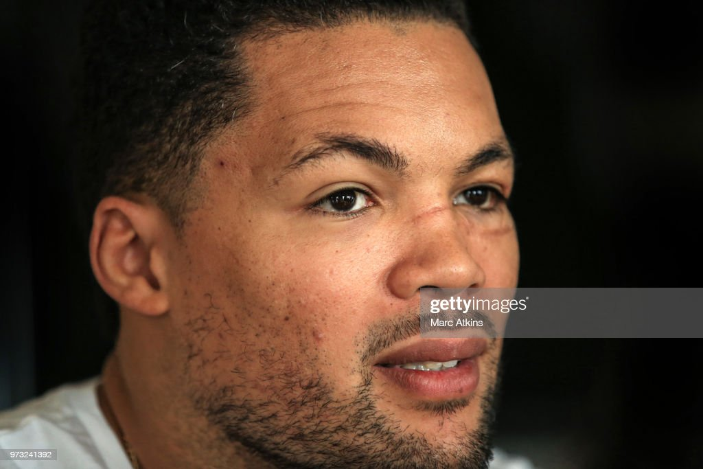 Joe Joyce speaks during a Joe Joyce & Richard Lartey Press Conference on June 13, 2018 in London, England.