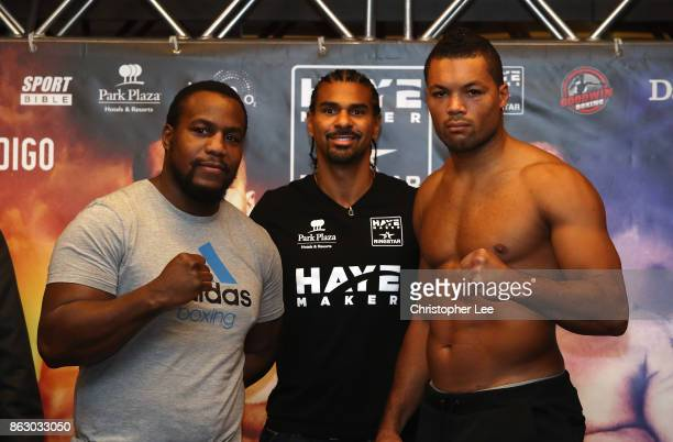 Joe Juggernaut Joyce goes head to head with his oppointent Ian Lay em out Lewison during the Hayemaker Ringstar Fight Night Weigh In at the Park...