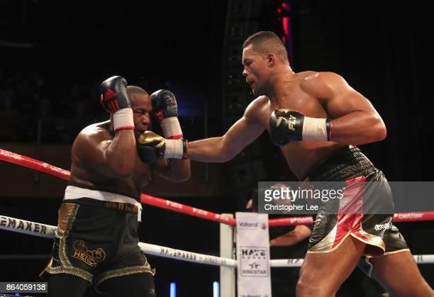 Joe Juggernaut Joyce in action as he beats Ian Lewison in the Heavyweight Fight during the Hayemaker Ringstar Fight Night at O2 Indigo on October 20...