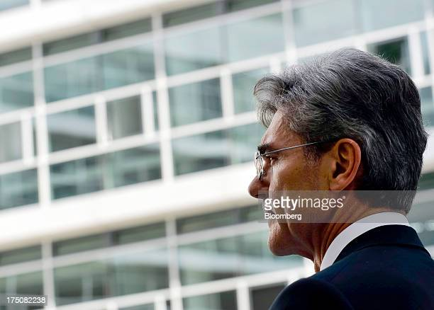 Joe Kaeser chief executive officer of Siemens AG pauses during a news conference after being named as the new chief executive of the company in...