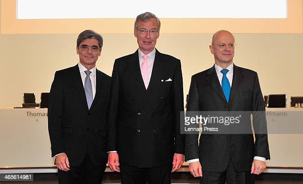 Joe Kaeser, President and Chief Executive Officer of Siemens AG, Gerhard Cromme, Chairman of the Supervisory Board of Siemens AG and Ralf P. Thomas,...