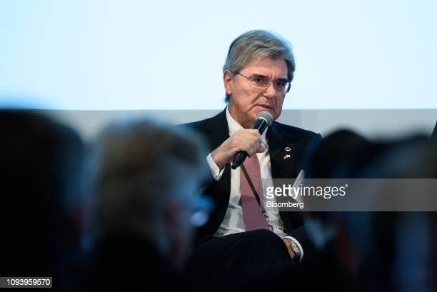 Joe Kaeser president and chief executive officer of Siemens AG speaks during the GermanJapanese Dialogue Forum in Tokyo Japan on Tuesday Feb 5 2019...
