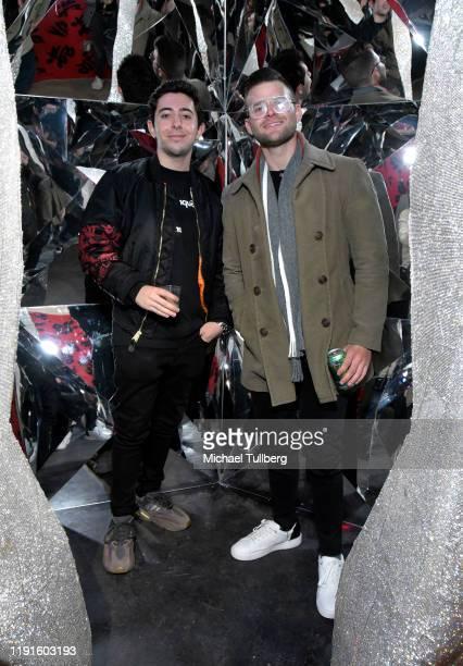 Joe Kaprielian and Justin Friedlander attend the VIP opening night for the Dumpling Associates popup art exhibition at ROW DTLA on December 02 2019...