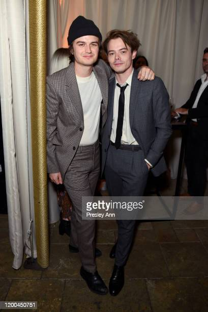 Joe Keery and Charlie Heaton are seen as Entertainment Weekly Celebrates Screen Actors Guild Award Nominees at Chateau Marmont on January 18, 2020 in...