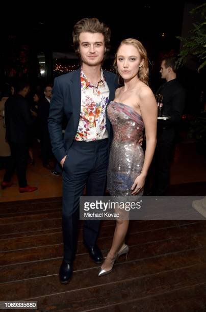 Joe Keery and Maika Monroe attend the 2018 GQ Men of the Year Party at a private residence on December 6, 2018 in Beverly Hills, California.