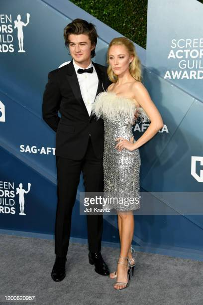 Joe Keery and Maika Monroe attends the 26th Annual Screen ActorsGuild Awards at The Shrine Auditorium on January 19 2020 in Los Angeles California