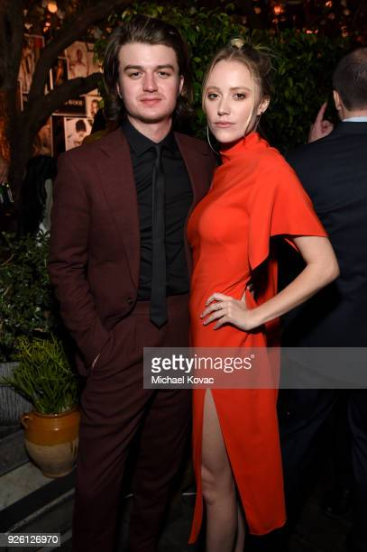 Joe Keery and Maika Monroe celebrate with Belvedere Vodka at Vanity Fair and Lancome Paris Toast Women in Hollywood hosted by Radhika Jones and Ava...