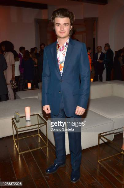 Joe Keery attends a private dinner hosted by GQ and Dior in celebration of the 2018 GQ Men Of The Year Party on December 06, 2018 in Los Angeles,...