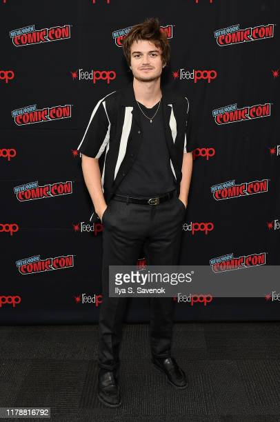 """Joe Keery attends New York Comic Con in support of """"Free Guy"""" at The Jacob K. Javits Convention Center on October 03, 2019 in New York City."""