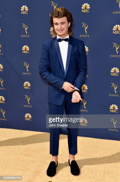 Joe Keery attends the 70th Emmy Awards at Microsoft Theater on September 17 2018 in Los Angeles California