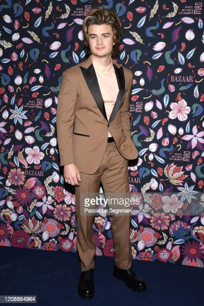 Joe Keery attends the Harper's Bazaar Exhibition as part of the Paris Fashion Week Womenswear Fall/Winter 2020/2021 At Musee Des Arts Decoratifs on...