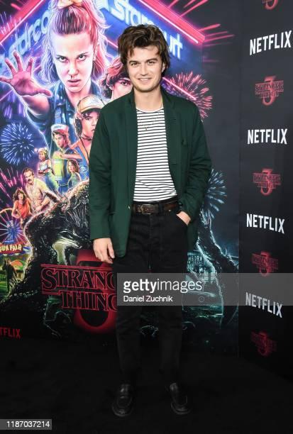 "Joe Keery attends the New York Screening of ""Stranger Things"" Season 3 at DGA Theater on November 11, 2019 in New York City."