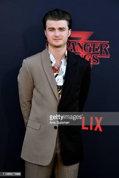 "Joe Keery attends the premiere of Netflix's ""Stranger Things"" Season 3 on June 28, 2019 in Santa Monica, California."