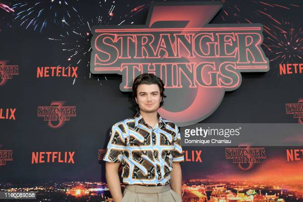 Joe Keery attends the Stranger Night Paris At Le Grand Rex on July 04, 2019 in Paris, France.