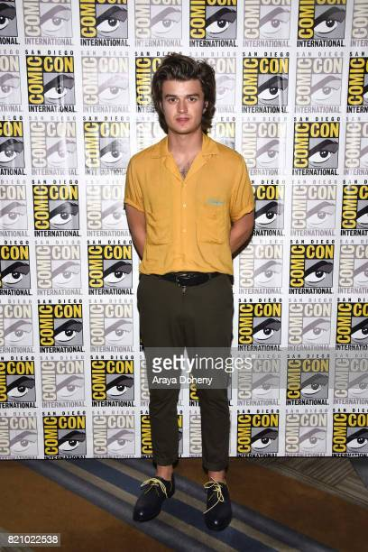 Joe Keery attends the 'Stranger Things' press conference at ComicCon International 2017 on July 22 2017 in San Diego California