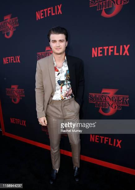 "Joe Keery attends the ""Stranger Things"" Season 3 World Premiere on June 28, 2019 in Santa Monica, California."