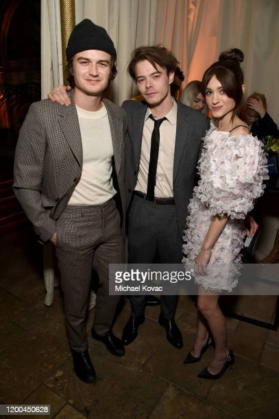 Joe Keery, Charlie Heaton and Natalia Dyer are seen as Entertainment Weekly Celebrates Screen Actors Guild Award Nominees at Chateau Marmont on...