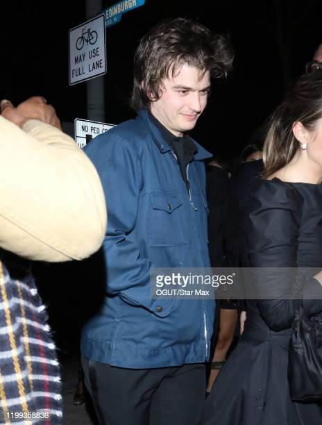 Joe Keery is seen on February 8 2020 in Los Angeles California