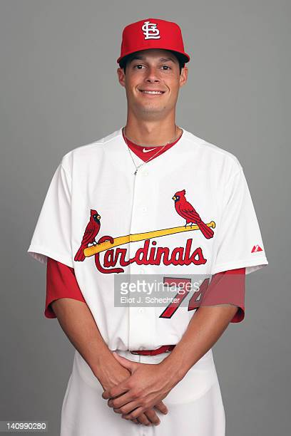 Joe Kelly of the St Louis Cardinals poses during Photo Day on Wednesday February 29 2012 at Roger Dean Stadium in Jupiter Florida