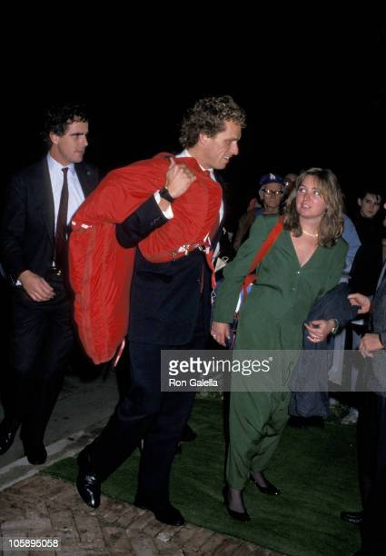 Joe Kennedy and Courtney Kennedy during U2 Party November 201987 at Jane Fonda's Beverly Hills Home in Beverly Hills California United States