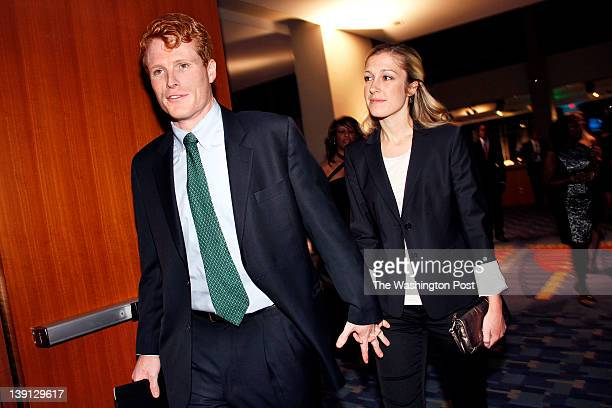 Joe Kennedy grandson of Robert Kennedy with Lauren Birchfield at the RFK Stadium 50th Anniversary Dinner Celebration held at the Walter E Washington...